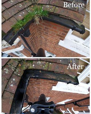 gutter cleaning solihull, gutter cleaner solihull
