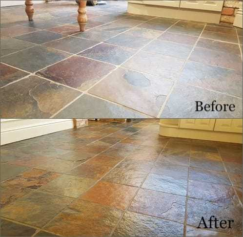Natural Stone floor Cleaning and Restoration