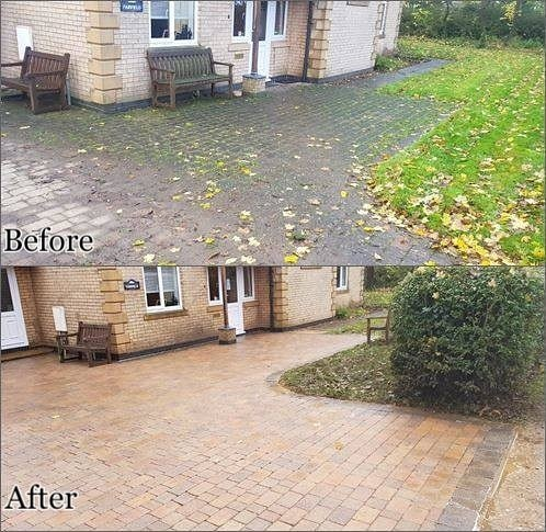 Driveway cleaning & patio cleaning