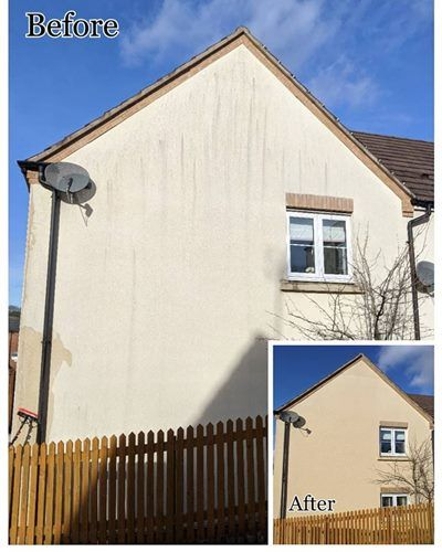 exterior wall cleaning